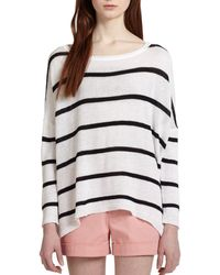Alice + Olivia Striped Dolman-sleeved Boxy Sweater - Lyst