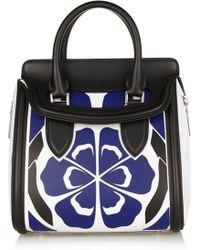 Alexander McQueen The Heroine Small Floral-Appliquéd Leather Shoulder Bag - Lyst