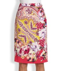 Etro Paisley Floral Skirt - Lyst