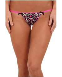 Betsey Johnson Slinky Knit String Thong - Lyst