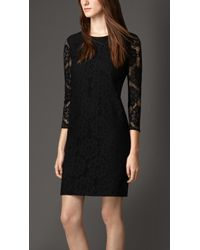 Burberry English Floral Lace Dress - Lyst