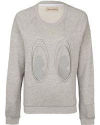 Libertine-Libertine - Grey Play Eyes Embroidery Sweatshirt - Lyst