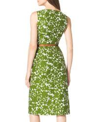 Michael Kors Floral-Print Cotton Dress - Lyst