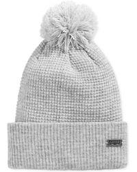 Levi's Pom Pom Waffle Knit Hat - Lyst