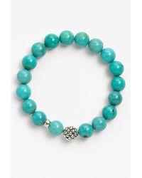 Lagos Bead Stretch Bracelet - Turquoise - Lyst