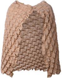 Issey Miyake Geometric Texture Scarf - Lyst