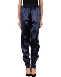 Celine Blue Casual Trouser - Lyst