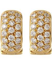 Paul Morelli - Gold Diamond Pinpoint Snap Hoop Earrings - Lyst