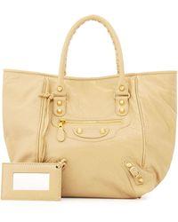 Balenciaga Giant 12 Golden Sunday Tote Bag beige - Lyst