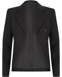 Michael Kors Black Cropped Blazer - Lyst