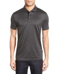 BOSS | Pique Knit Polo Shirt | Lyst