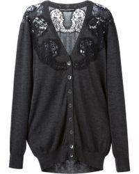 Dolce & Gabbana Lace Detail Cardigan - Lyst