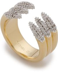 Rachel Zoe - Sophia Dipped Pave Claw Ring - Gold - Lyst