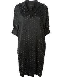 Jay Ahr Eyelets Pattern Shirt Dress - Lyst