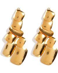 Herve Van Der Straeten Hammered Gold-Plated Yucata Earrings - Lyst