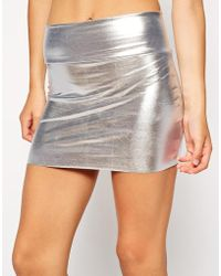 American Apparel Metallic Late Night Mini Skirt - Lyst