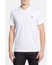 Fred Perry Slim Fit V-Neck T-Shirt - Lyst