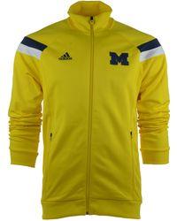 Adidas Men'S Michigan Wolverines Anthem Warm-Up Jacket - Lyst