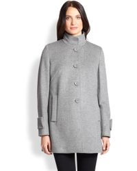 Max Mara Studio Wool Walking Coat - Lyst