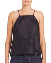 Milly | Trapeze Sheer-panel Camisole | Lyst