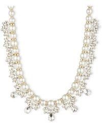 Anne Klein Crystal Collar Necklace - Lyst