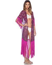Maaji Plum Stakes Kimono - Lyst