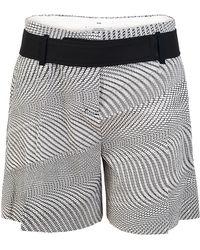 Dorothee Schumacher Meshillusion Shorts with Cotton Popeline Belt - Lyst