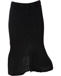Issey Miyake Pleated Skirt - Lyst
