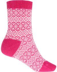 Pantherella | Blue Heart Cashmere Blend Socks | Lyst