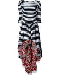 Natasha Zinko Blue Striped Dress - Lyst