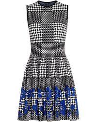 Alexander McQueen Prince Of Wales Flower-Jacquard Dress - Lyst