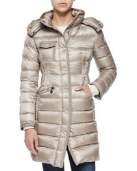 Moncler Hooded Mid-length Puffer Coat - Lyst