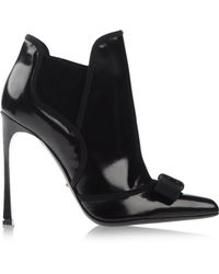 Sergio Rossi Black Ankle Boots - Lyst
