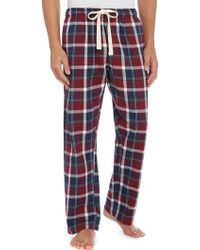 Howick - Bright Check Flannel Pyjama Trousers - Lyst