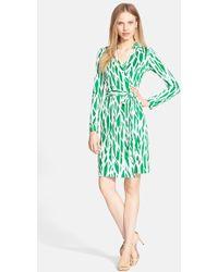 Diane von Furstenberg 'New Jeanne Two' Print Silk Wrap Dress - Lyst