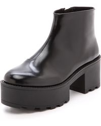 Cheap Monday | Tractor High Booties  Black | Lyst