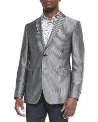 Etro Square-jacquard Evening Jacket - Lyst