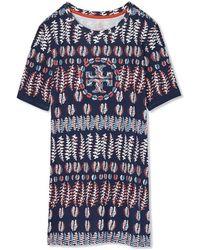 Tory Burch | Printed Cotton Jersey T-shirt | Lyst