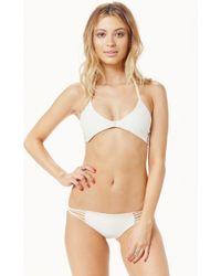 Mikoh Swimwear Namotu Scoop Neck Halter Back Bikini Top - Lyst