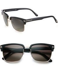 Tom Ford River 57mm Square Sunglasses - Lyst
