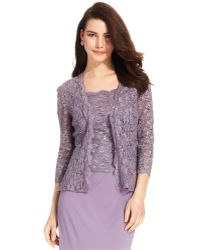 Alex Evenings - Sequined Lace Jacket & Shell - Lyst