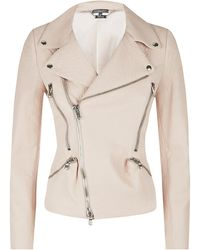 Alexander McQueen Grainy Leather Biker Jacket - Lyst