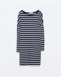 Zara Striped Dress - Lyst