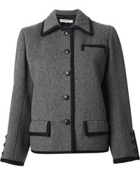 Yves Saint Laurent Vintage Braided Trim Jacket - Lyst