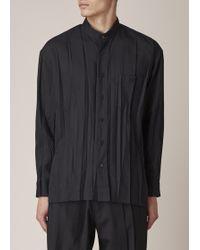 Issey Miyake | Black Wrinkle Shirt | Lyst