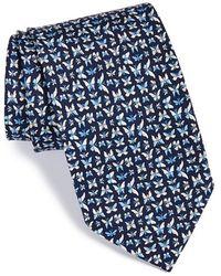 Ferragamo Butterfly Print Silk Tie - Lyst