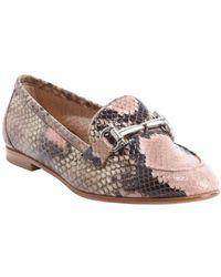 Ferragamo Pink Snake Embossed Leather Horsebit Detail 'My Informal' Loafers - Lyst
