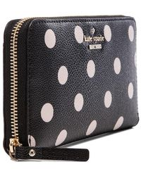 Kate Spade Black Lacey Wallet - Lyst