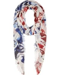 Alexander McQueen Ripped Union Jack Scarf - Lyst