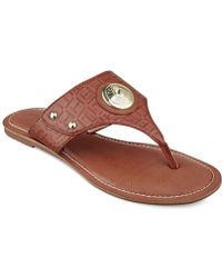 Tommy Hilfiger Lelani Thong Sandals brown - Lyst